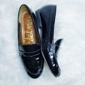 Sam Edleman etiene patent black leather loafer